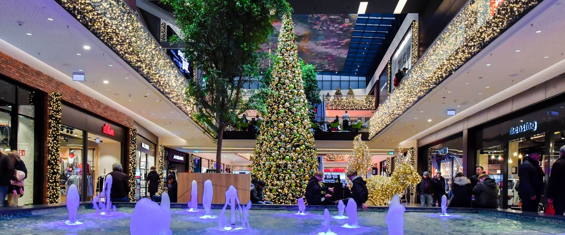 Festive Decorative Lighting For Shopping Centers And Malls